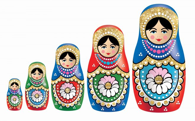Decorate your own Russian Dolls craft kit