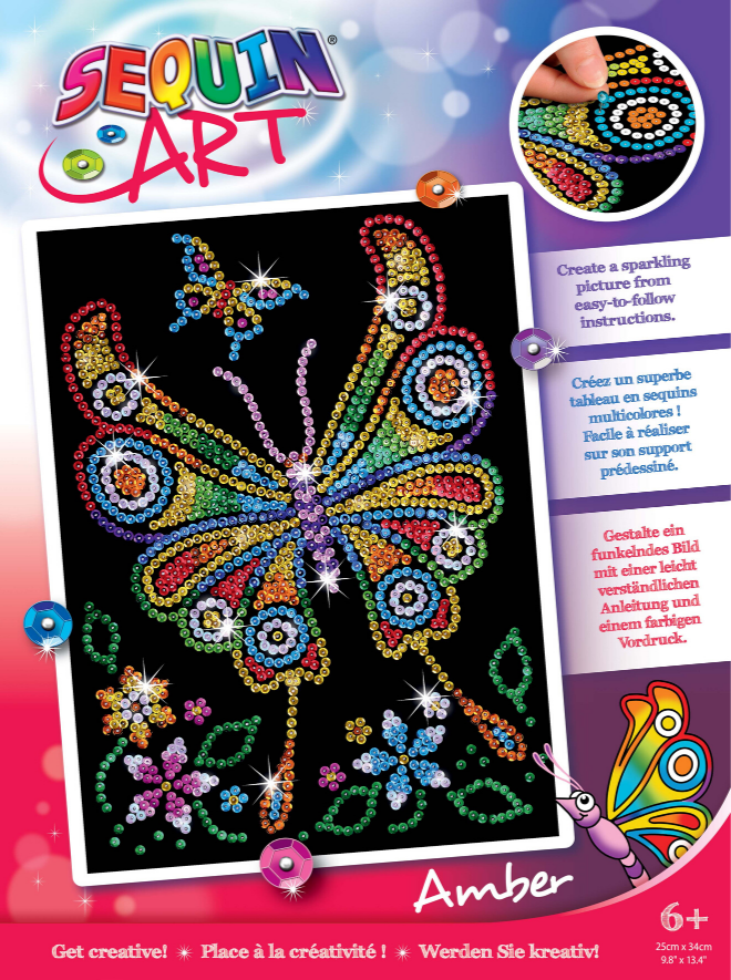Sequin Art Amber Butterfly craft kit