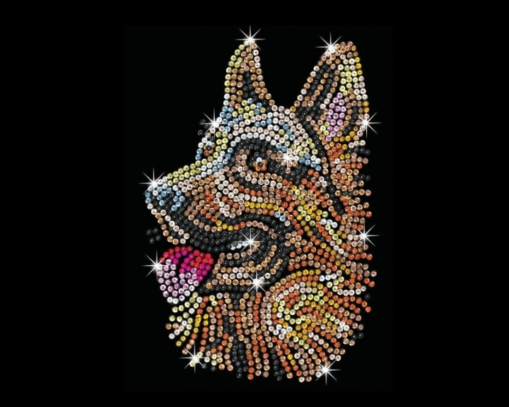 German Shepherd design by Sequin Art