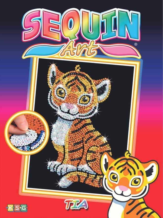 Sequin Art Tia Tiger craft kit for kids
