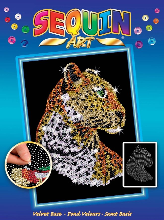 Sequin Art Leopard craft kit from the Blue range