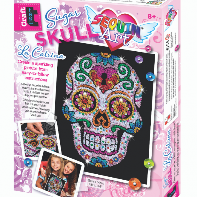 Sequin Art Sugar Skull craft project