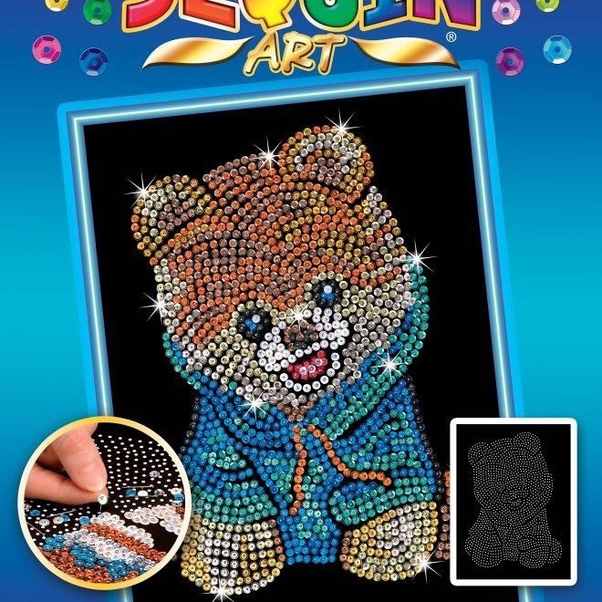 The adorable Teddy Bear Dog Sequin Art Craft Kit