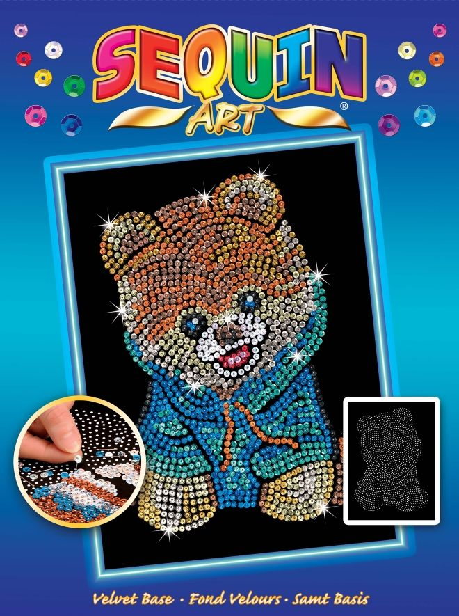 The adorable Teddy Bear Dog Sequin Art Craft Kit