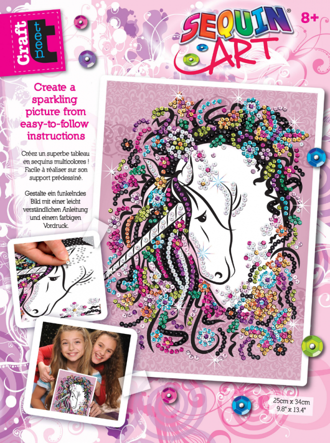 Sequin Art Unicorn craft kit