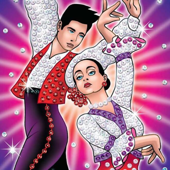Dancers from our Strictly Sequin Art range