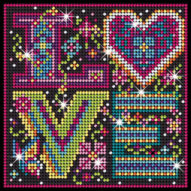 Love Typography is part of our Sequin Art Diamond Art range.