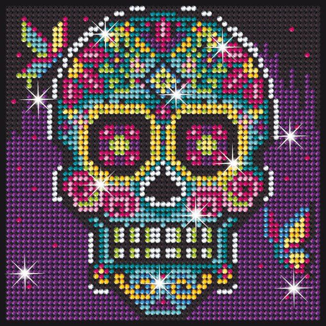 Sugar Skull design is part of our Sequin Art Diamond Art range