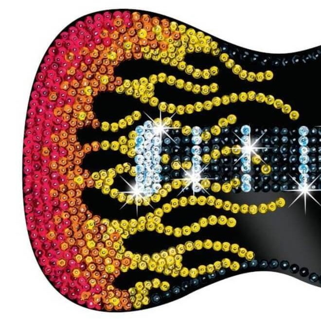 Guitar from our Strictly Sequin Art range