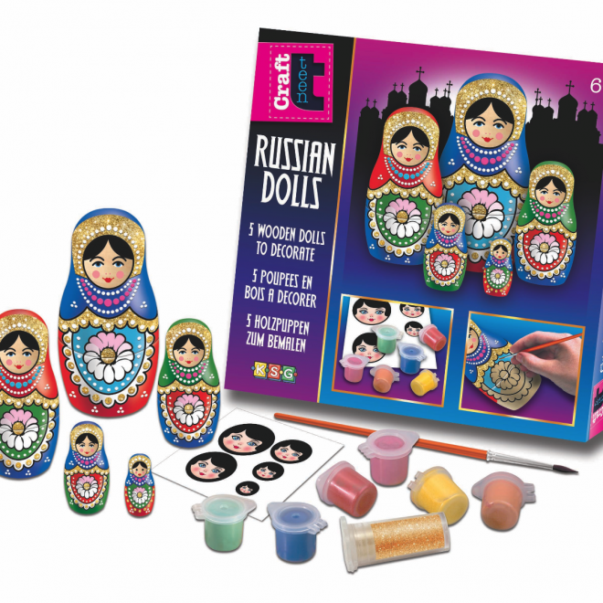 Glitter Russian Dolls