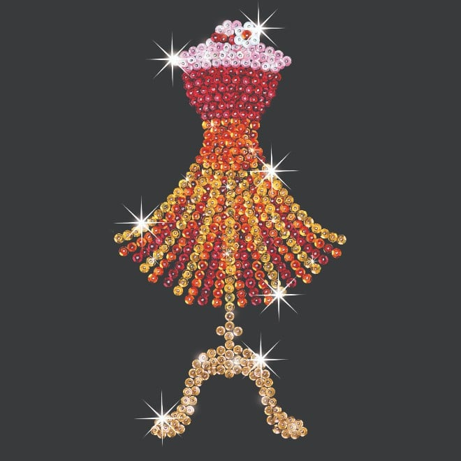 The Mannequin craft project from our Sequin Art Style range