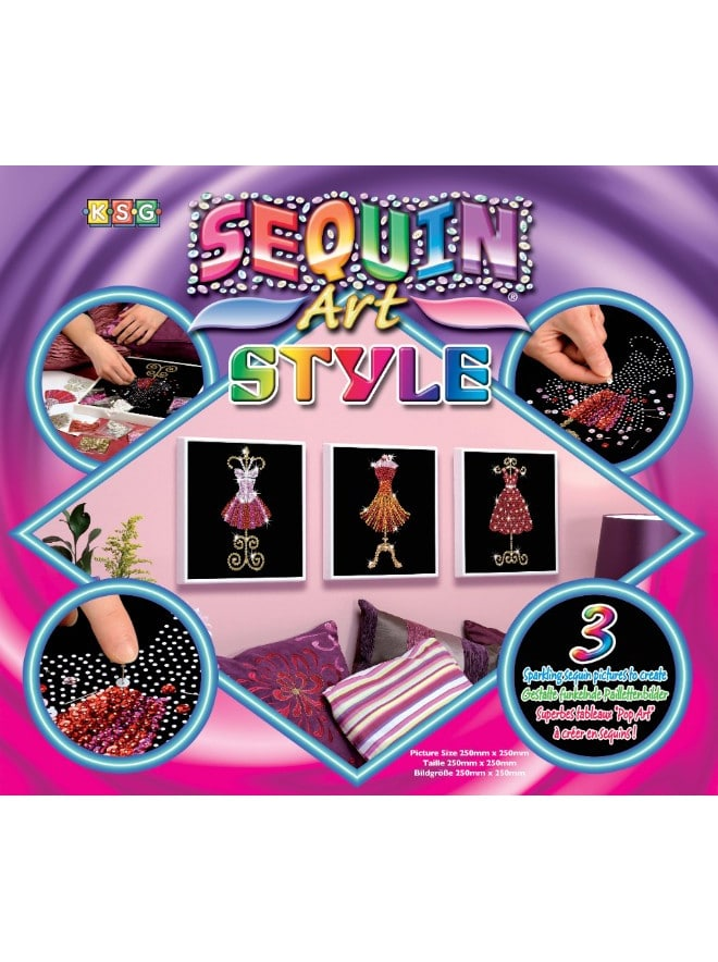 Box of the glamorous Mannequin project from our Sequin Art Style range