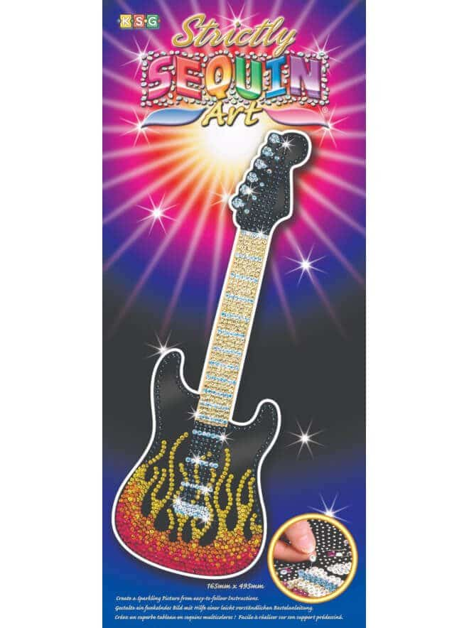 The Guitar is from our Sequin Art Strictly Range.