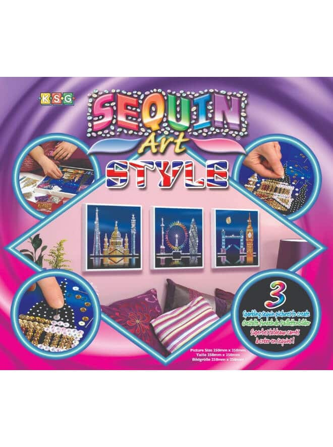 London Skyline Box is a three piece project from our Sequin Art Style range.