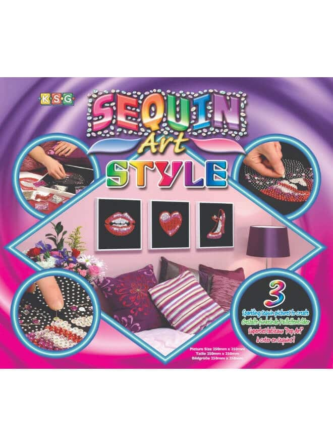 Pop Art Style Box from the Sequin Art Style range.