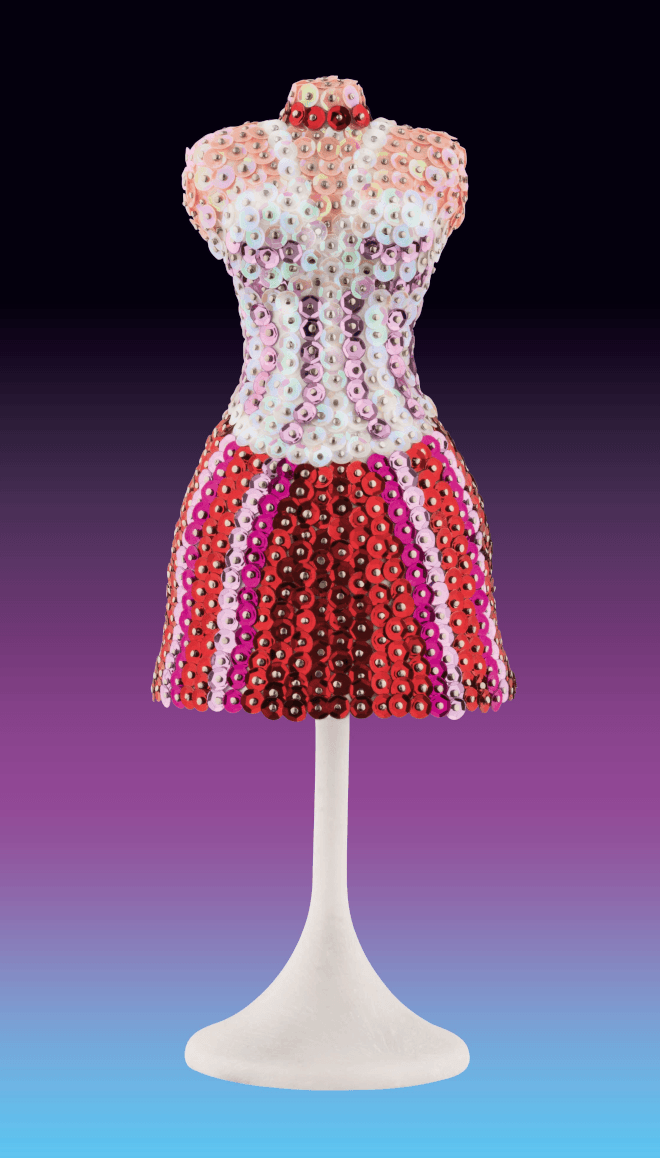 The Mannequin is from our Sequin Art 3D range