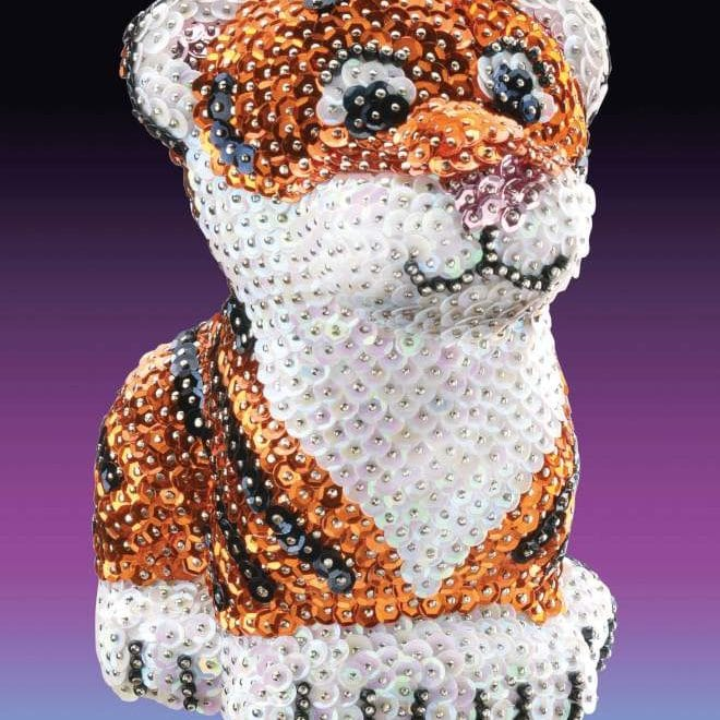 The Tiger is part of the Sequin Art 3D range