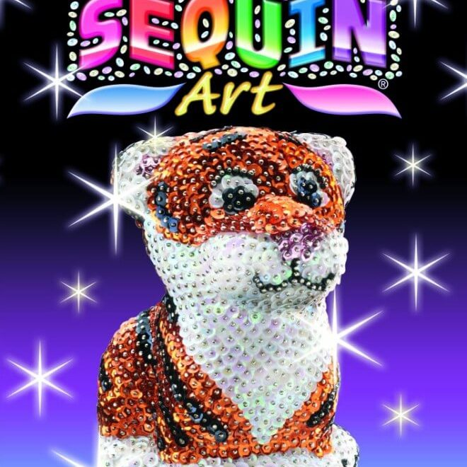 The Tiger is from our 3D Sequin Art Range.