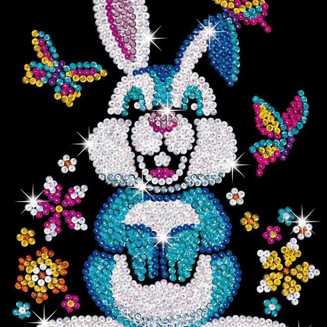 Binky the Bunny is from our Sequin Art Red range