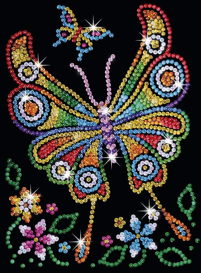The Amber Butterfly project is from our Sequin Art Style Red range