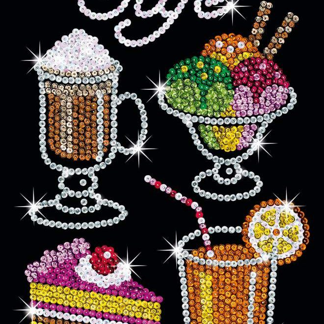 The Café project is part of the Sequin Art Blue range