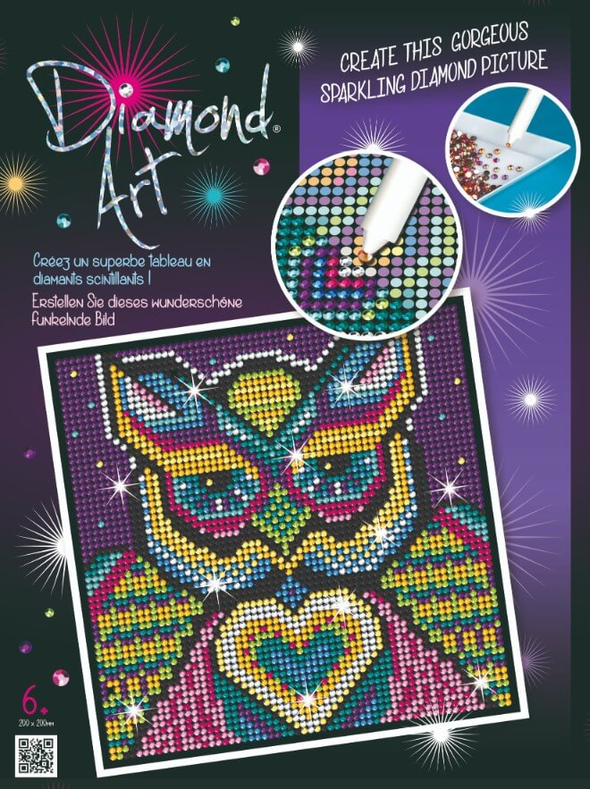 The Owl is from our Diamond Art Range at Sequin Art.