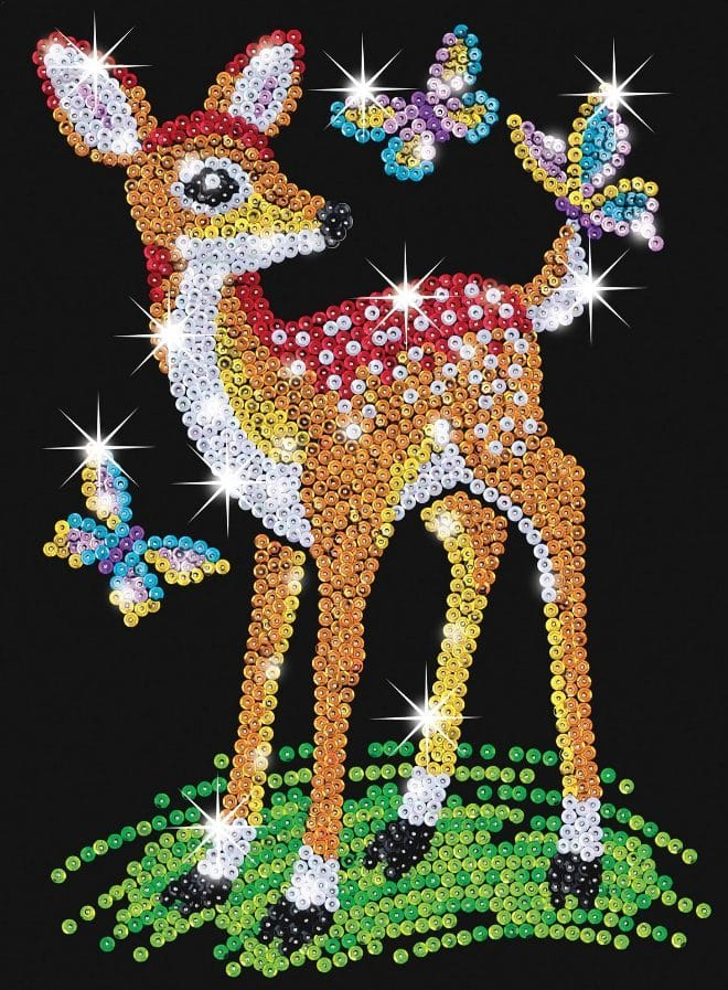 Fiona the Fawn is from Sequin Art Red Range