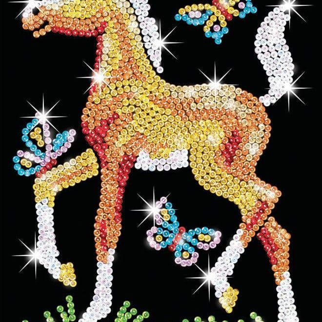 The Freya Foal design is from our Sequin Art Red range