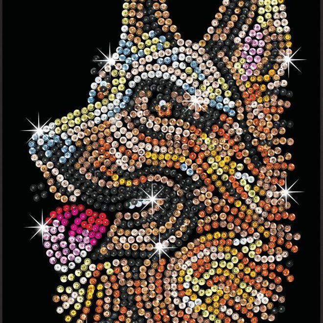 The German Shepherd design is from our Sequin Art Blue range