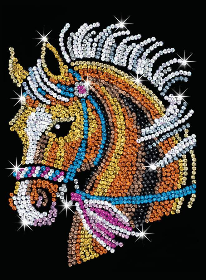 The Horse design from our Sequin Art Blue range