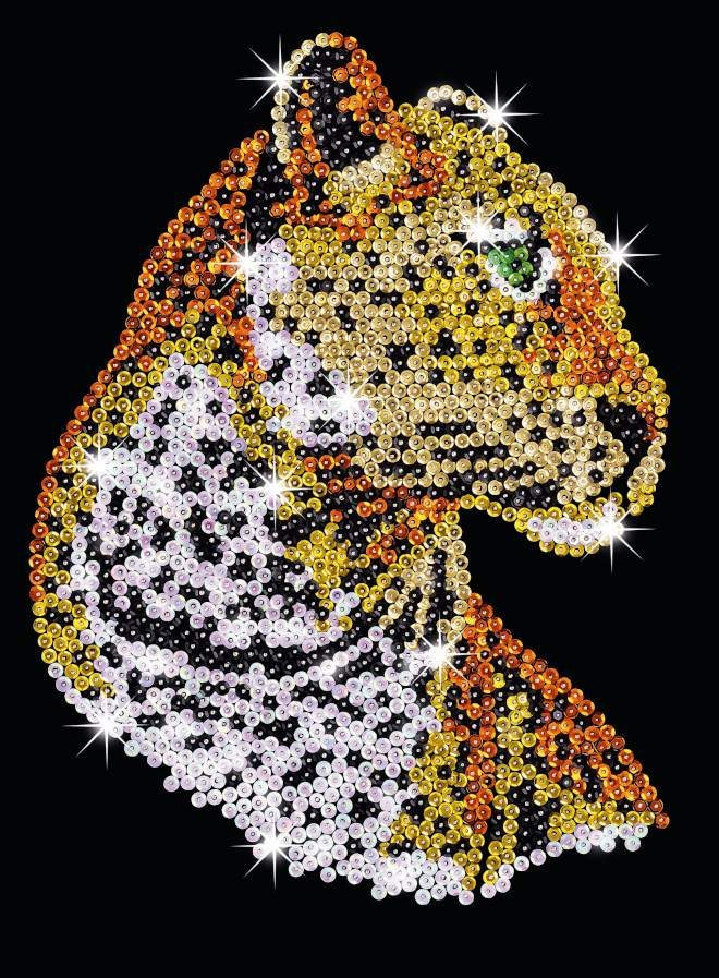 The Leopard design is part of our Sequin Art Blue range