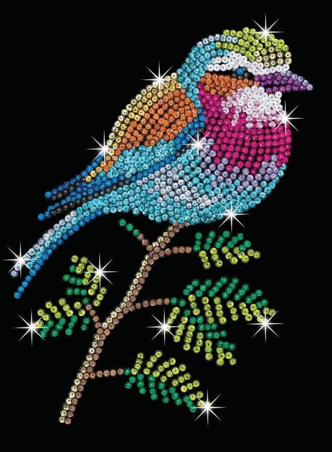 Lilac Breasted Roller - Sequin Art Red Range