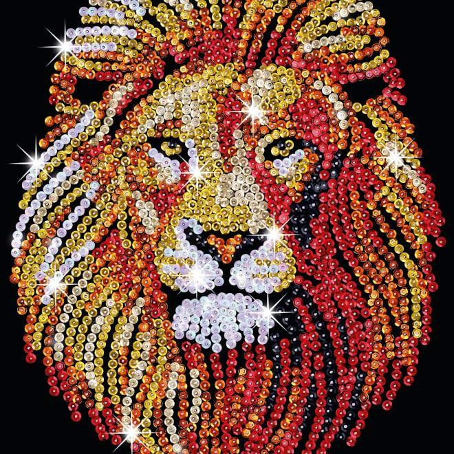 The Lion design is part of our Sequin Art Blue range