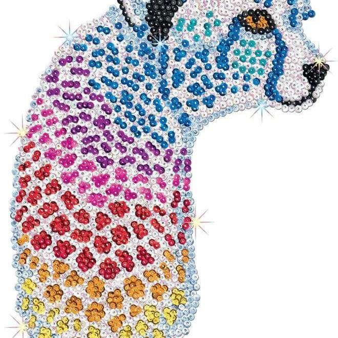Cheetah is part of a three piece project from our Sequin Art Safari range.