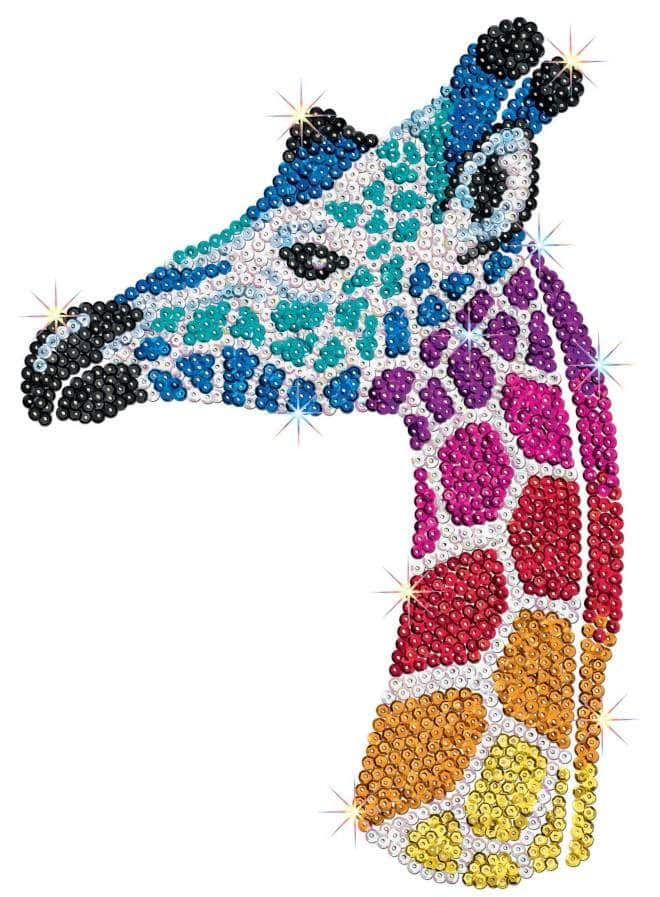 The Giraffe is part of a three piece project from our Sequin Art Safari range.