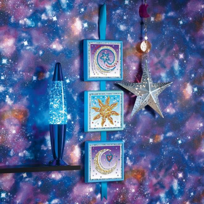 The Cosmic design is a three piece project from our Sequin Art Seasons range