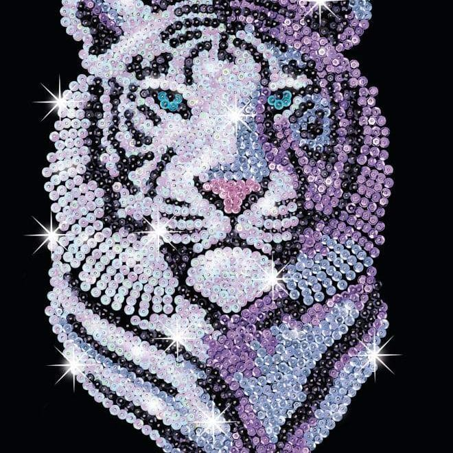 The Snow Tiger design is part of our Sequin Art Blue range