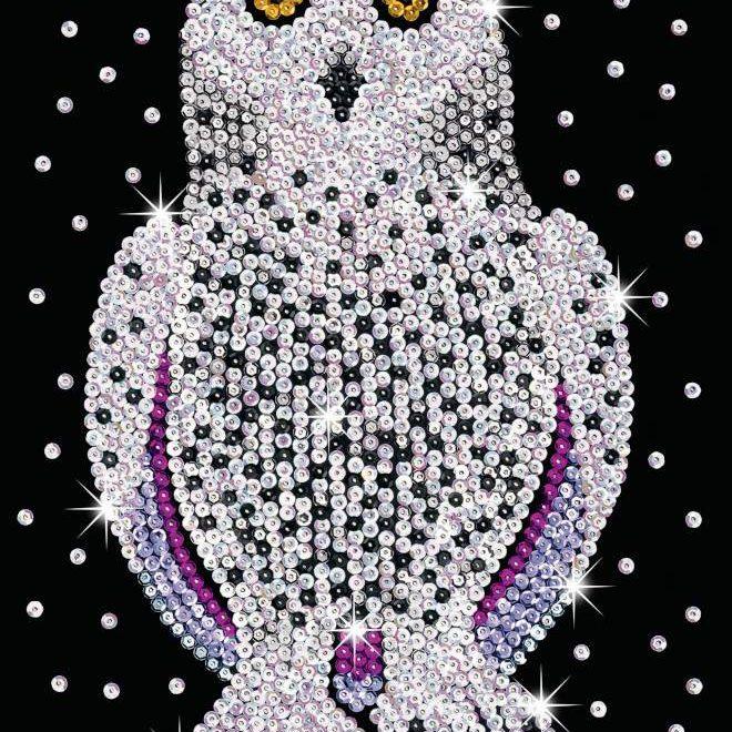 Snowy Owl design is part of our Sequin Art Blue Range