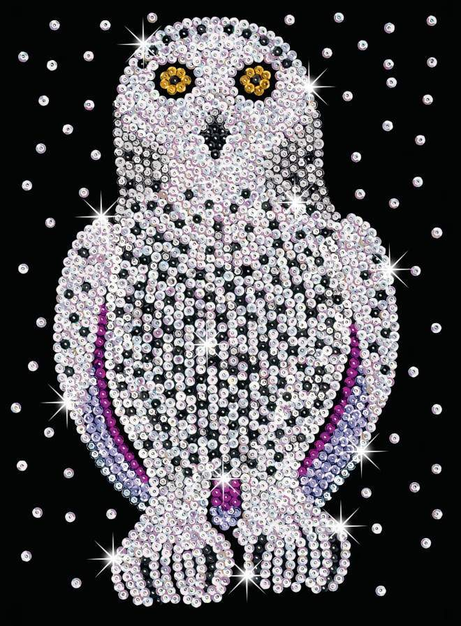 Snowy Owl design is part of our Sequin Art Blue Range