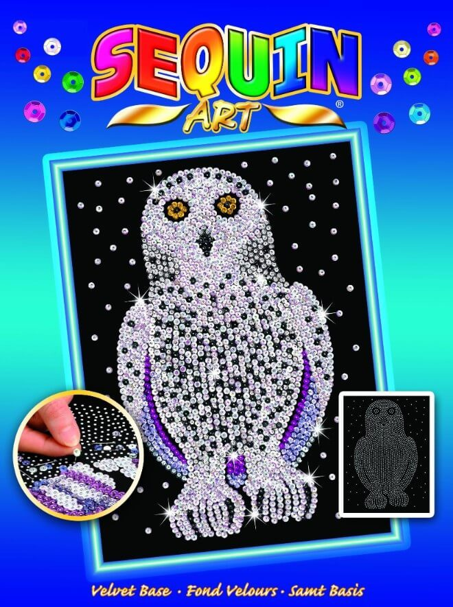 Snowy Owl Box from the Sequin Art Blue Range
