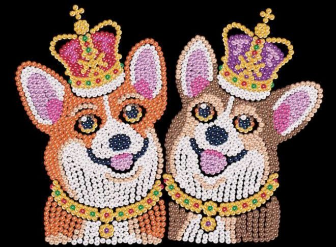 Spick & Span Corgis design is from our Sequin Art Red range