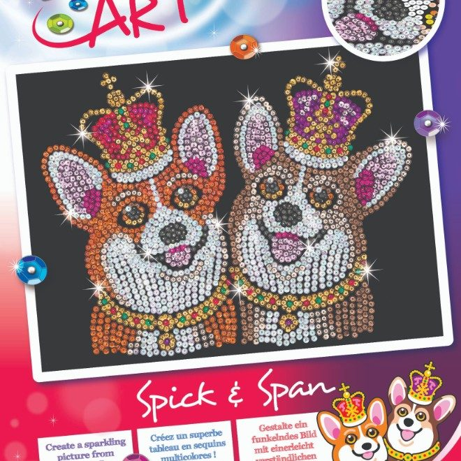 Our Brand New friends, Spick & Span have joined the Sequin Art Red range.
