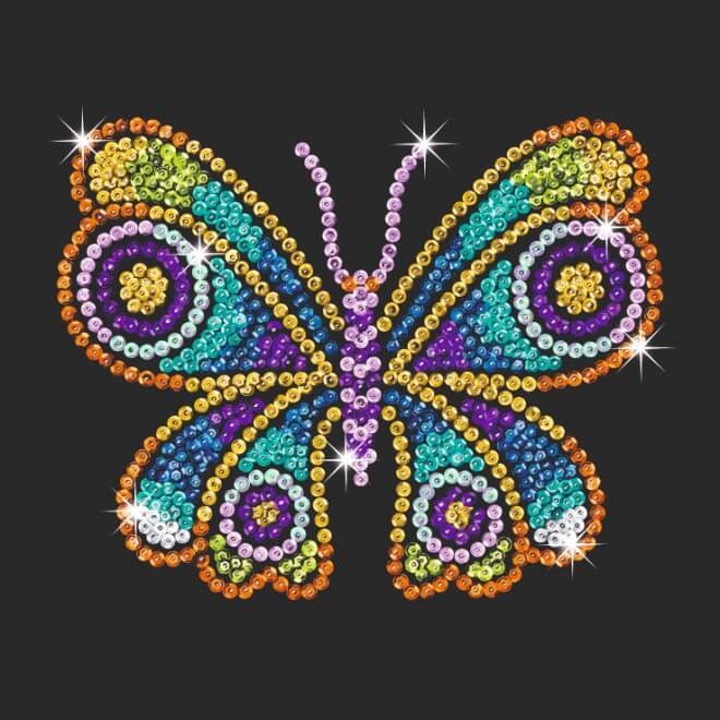 Butterflies are part of our Sequin Art Style range