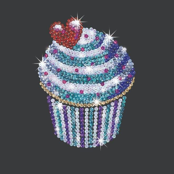 Cupcakes are part of our Sequin Art Style range