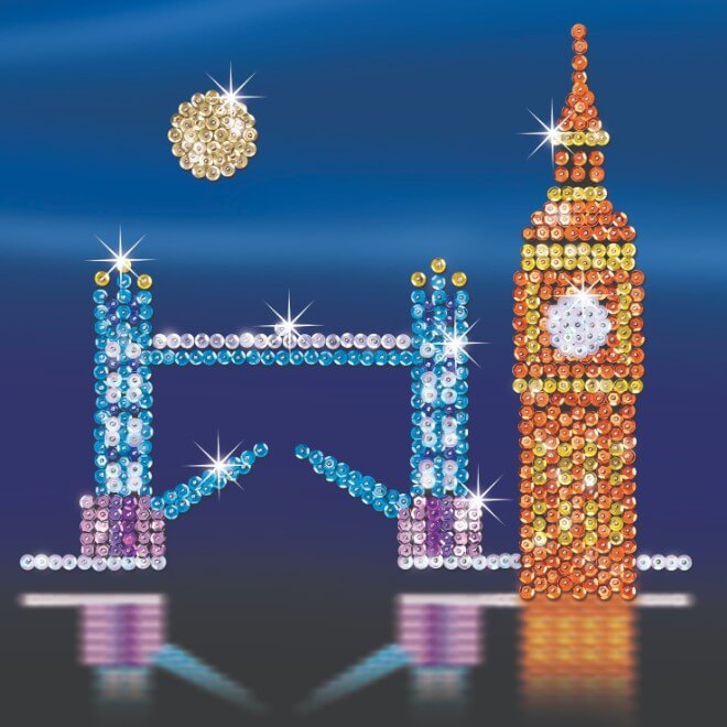 London, our capital city skyline, part of the Sequin Art Style range