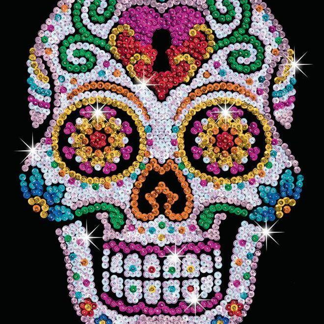 Sugar Skull from the Sequin Art Teen Craft Range