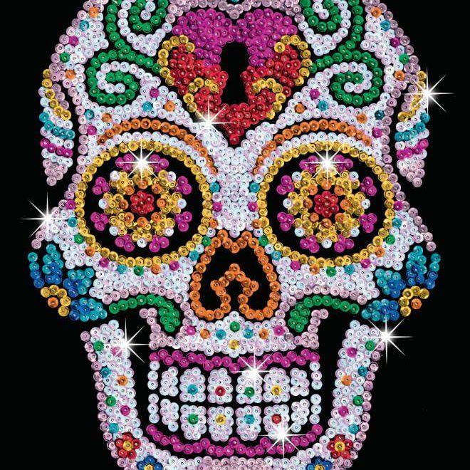 Sugar Skull from the Sequin Art Teen Craft Range
