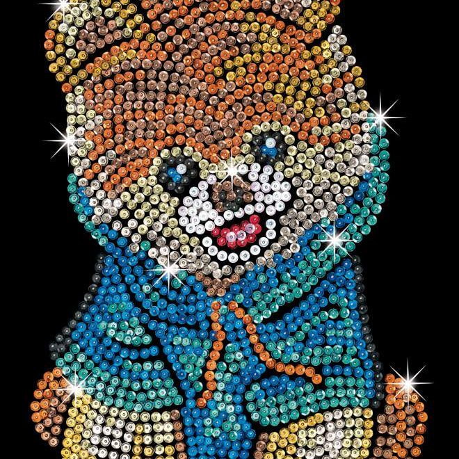 The Teddy Bear Dog craft is from our Sequin Art Blue Range