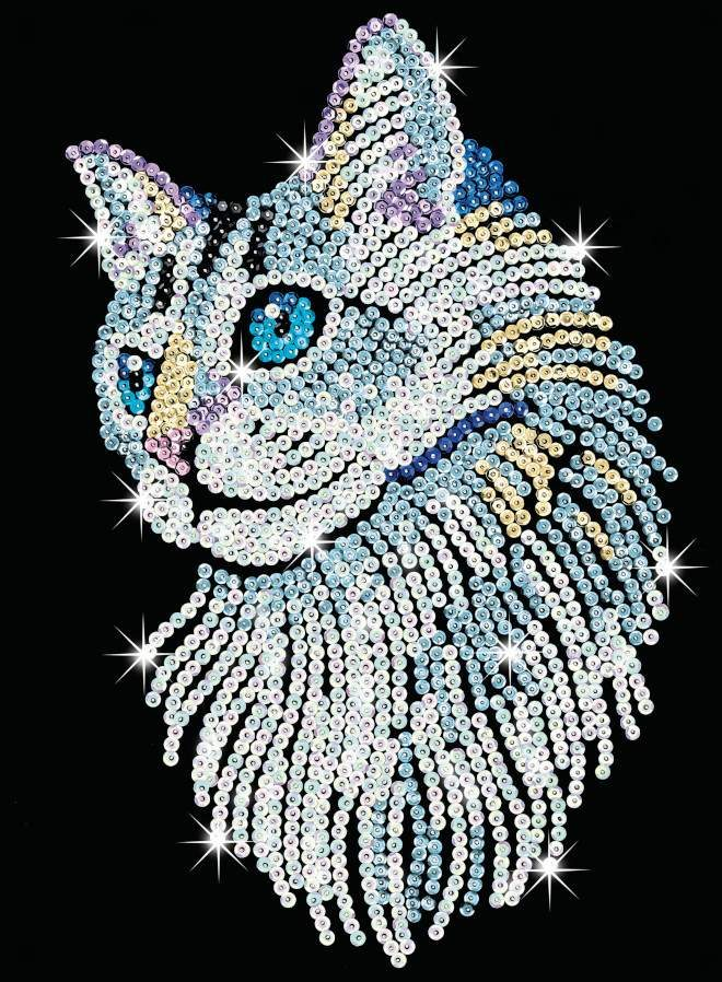 The Sequin Art White Cat is part of our Blue range