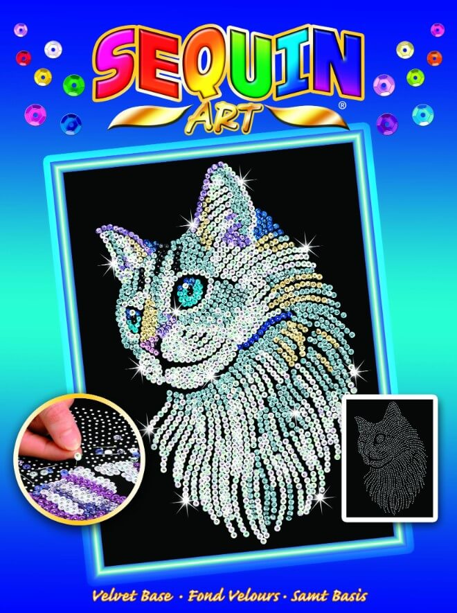 White Cat Box from the Sequin Art Blue Range